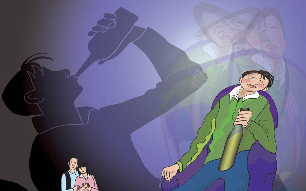 Problematisch alcoholgebruik: een grote zorg voor ouders. Ga samen na waarom het maathouden zo'n struikelblok is.beeld Anjo Mutsaars