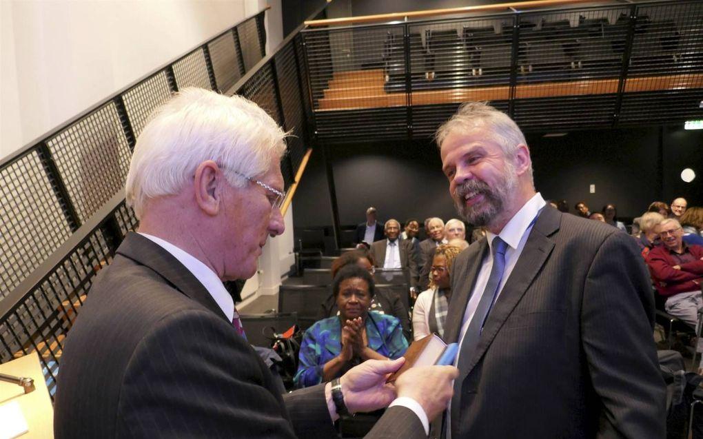 Ds. G. de Fijter (l.) en ds. J. Welschen.beeld RD