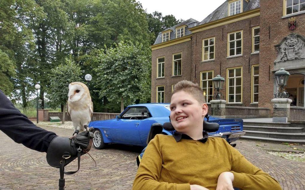 Jordi van Rooijen (14) lijdt aan het syndroom van Pelizaeus-Merzbacher.beeld RD