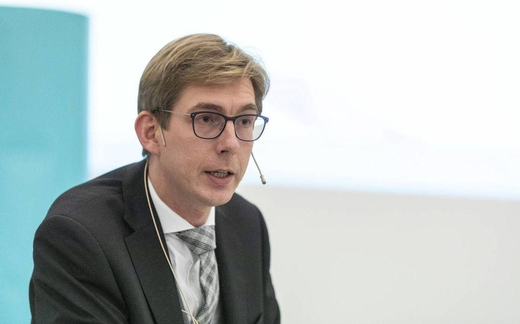 Steven Middelkoop reageerde in een co-referaat op de uitkomsten van het lectoraat Vorming vanuit de Bron.beeld André Dorst