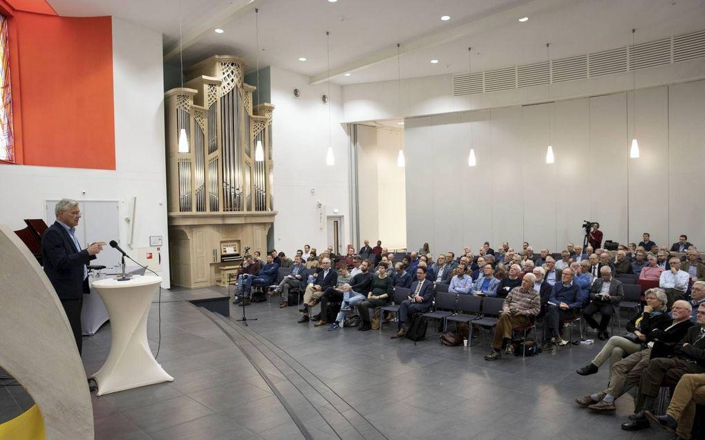 De studiedag over geloof en evolutie vond plaats in de Fonteinkerk te Nijkerk. beeld RD, Anton Dommerholt