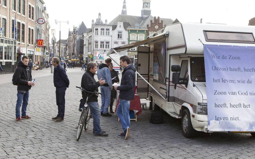Evangelisatieactie van de Stichting Sjofar in Den Bosch (archieffoto). beeld RD, Anton Dommerholt