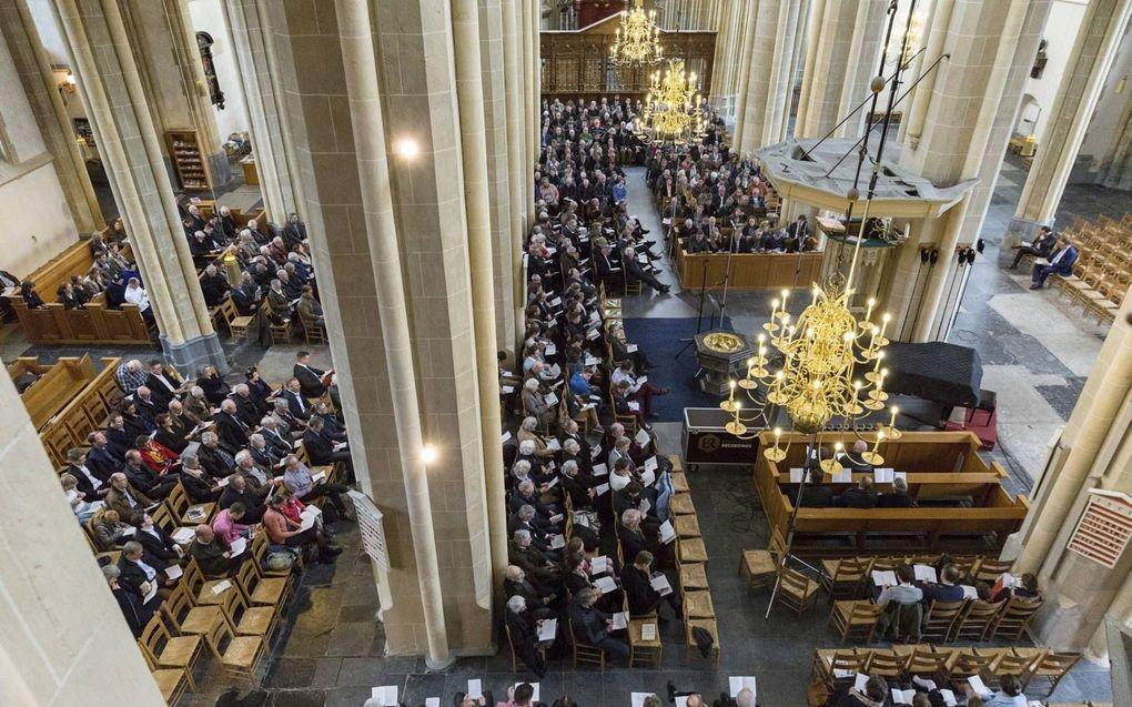 Bovenkerk in Kampen tijdens de Psalmzangdag in 2017. beeld André Dorst
