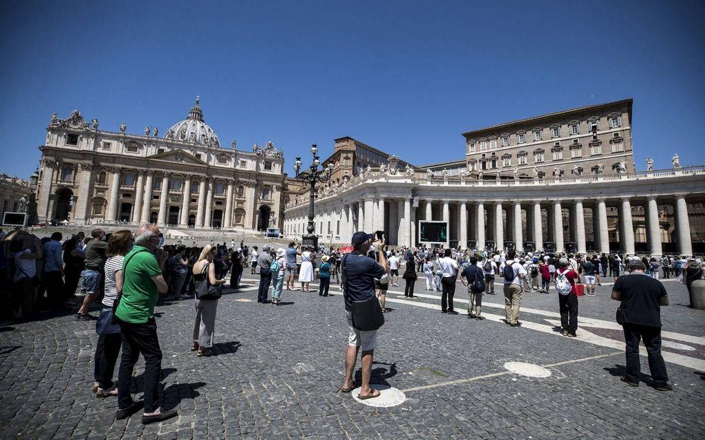 De Italiaanse Bisschoppenconferentie waarschuwt dat een nieuwe antidiscriminatiewet de vrijheid van meningsuiting aantast.beeld EPA, Angelo Carconi