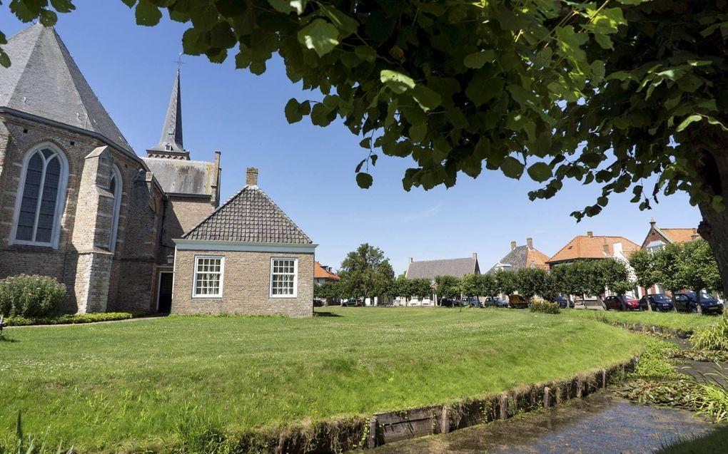 De dorpsnaam Dreischor verwijst naar drie schorren (buitendijks aangeslibd land) waarop schapen werden geweid.beeld Niek Stam
