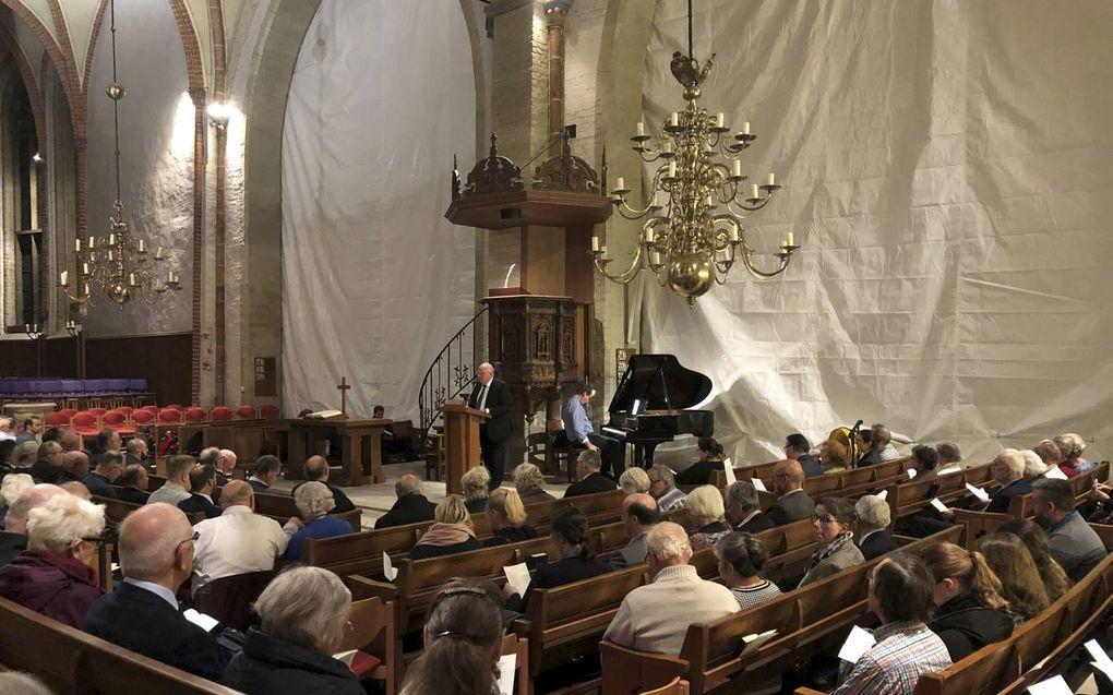 Bijeenkomst van de Stichting Vrienden van Heidelberg en Dordrecht in de Sint-Martinikerk in Bremen, in oktober 2019. beeld RD