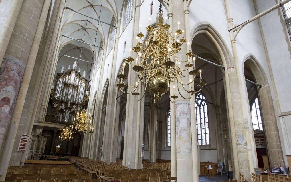 Concertlocaties, zoals de Bovenkerk in Kampen, moesten de achterliggende periode voortdurend schakelen: mogen er 250 of slechts 30 bezoekers naar binnen voor een concert?beeld RD, Anton Dommerholt