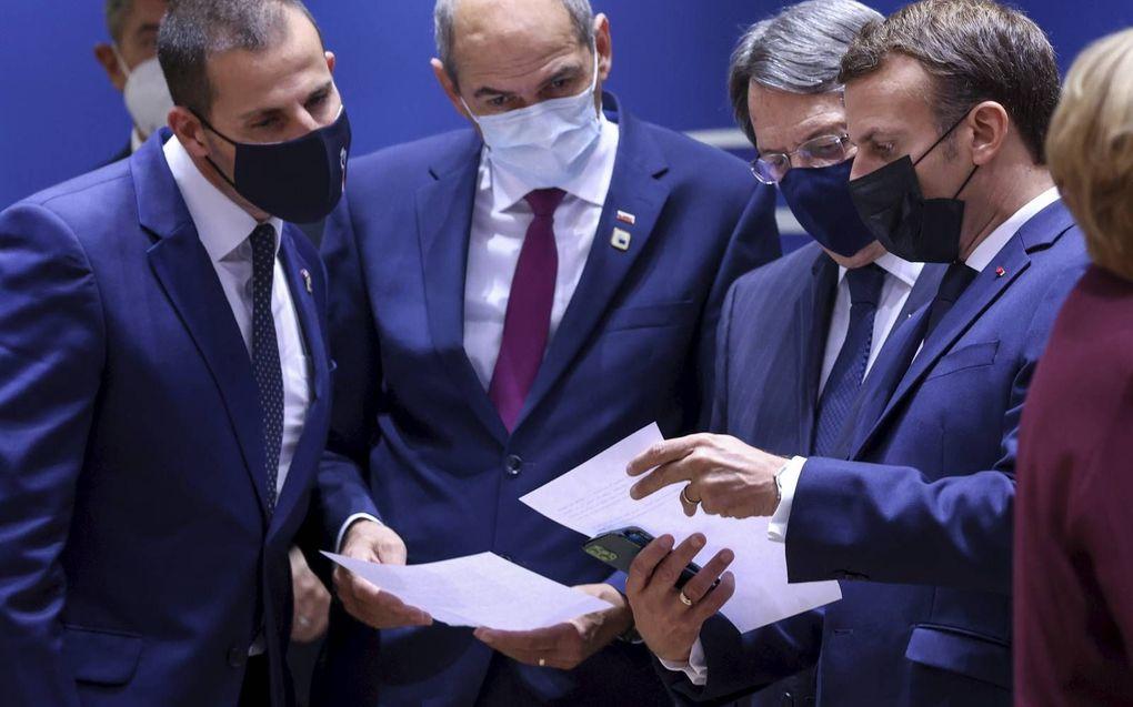 De Europese leiders kwamen eerder deze maand wel fysiek bijeen in Brussel. De EU-top donderdag werd online gehouden. beeld EPA, Kenzo Tribouillard