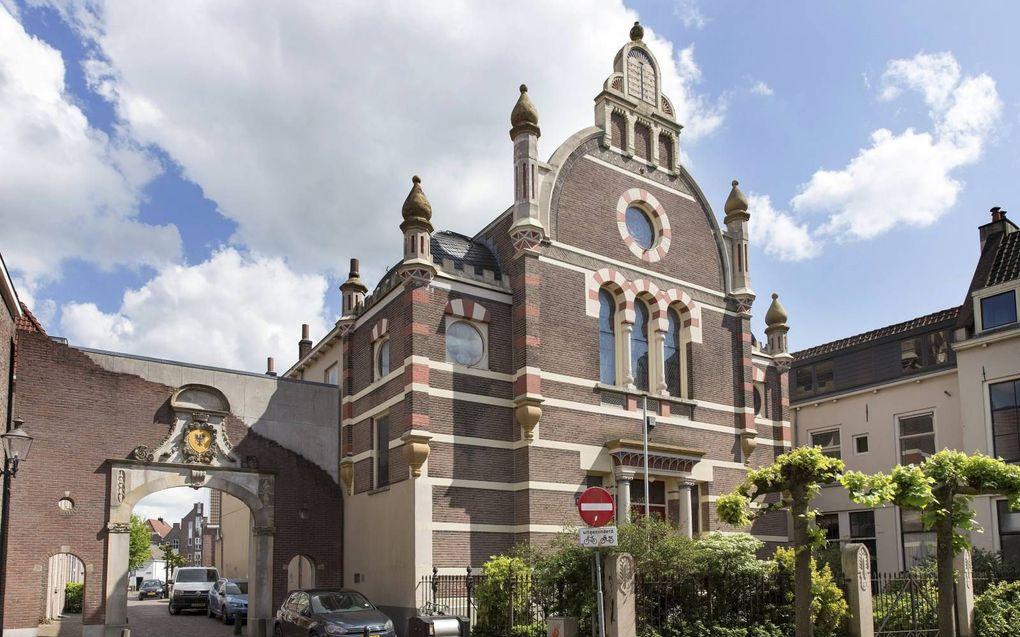 """""""Er waren zeer positieve reacties op de recente spijtbetuiging tegenover de Joden van kerkelijke leiders in Nederland."""" Foto: synagoge in Deventer. beeld RD, Henk Visscher"""