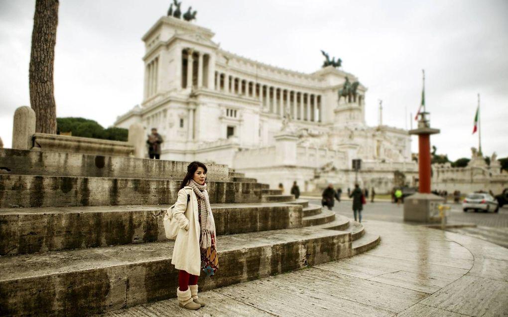 In Rome ontmoet de schrijver-detective de vrouw waar hi naar op zoek is.beeld Getty Images/iStockphoto