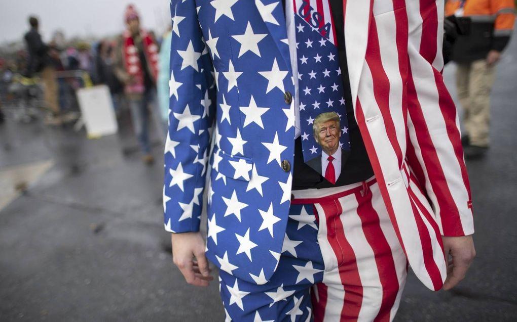 De politieke voorkeur is duidelijk.beeld AFP, Mark Makela