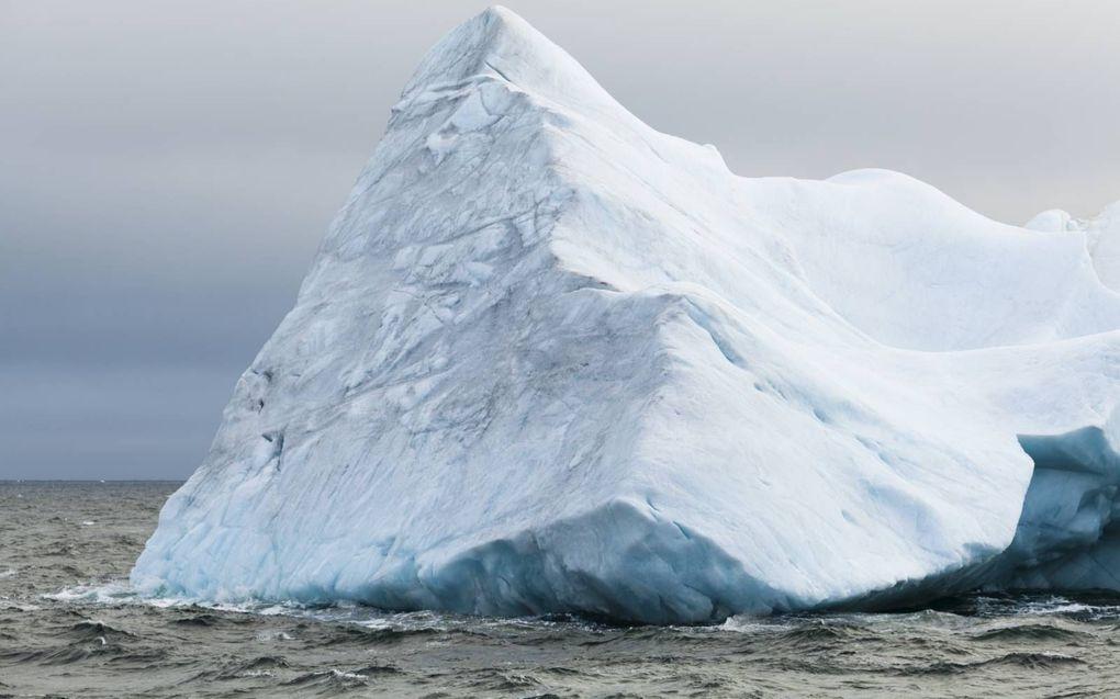 Een ijsschots in de Laptevzee. Niet eerder was er in deze tijd van het jaar zo weinig zee-ijs in deze Russische zee boven de poolcirkel.