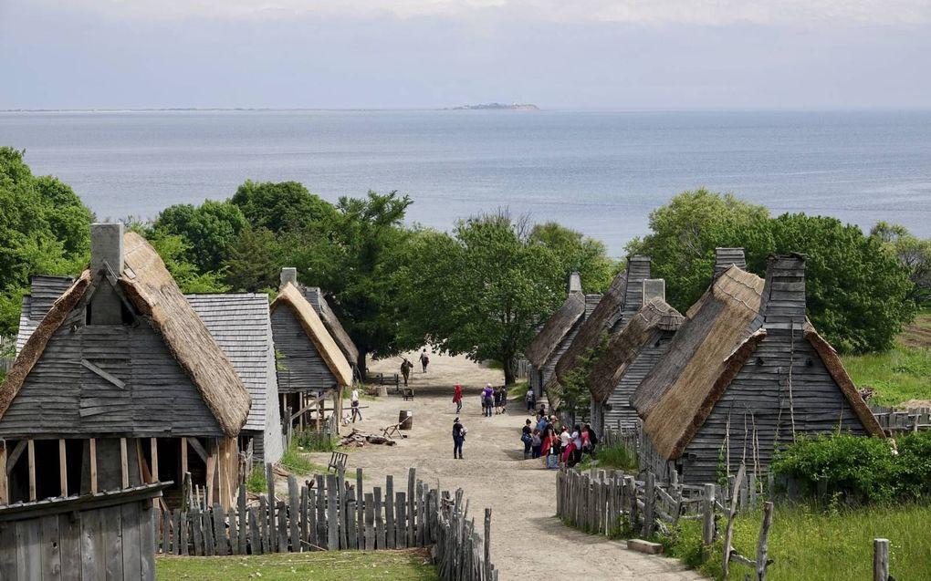 In openluchtmuseum Plimmoth Plantation, bij Plymouth in de Verenigde Staten, is te zien hoe de Pilgrim Fathers leefden na hun aankomst in Amerika in 1620.beeld RD