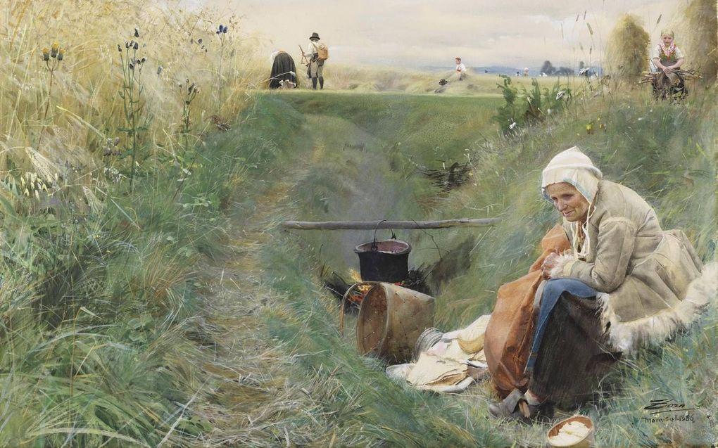 "ns dagelijks brood"" (1886/1909), aquarel. beeld Nationalmuseum, Stockholm"