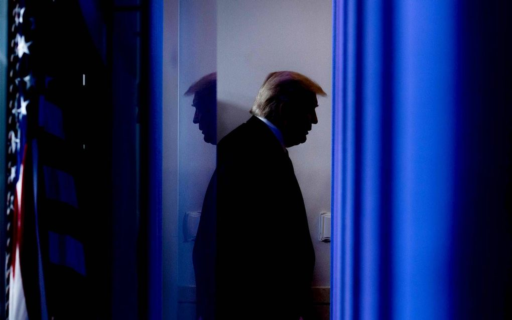 Donald Trump heeft in zijn aard dat hij alleen maar kan winnen.beeld AFP, Jim Watson