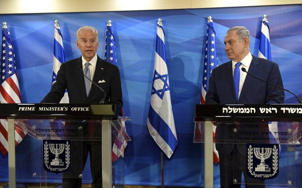 Biden en Netanyahu in 2016.beeld AFP, Debbie Hill