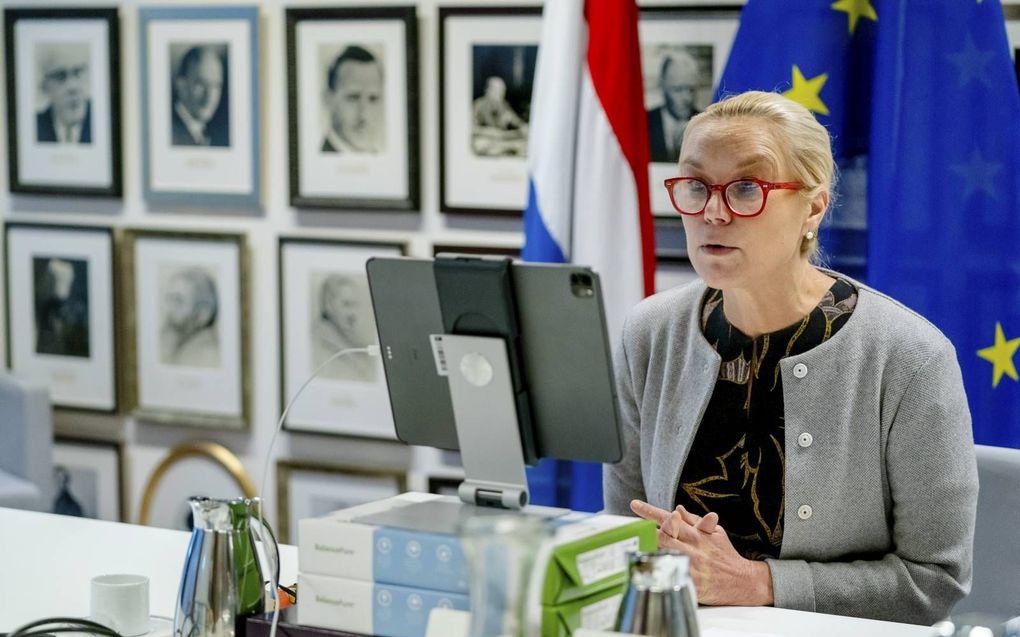 """""""Het was stuitend om te zien hoe minister Kaag, lijsttrekker van D66, blijk gaf van haar minachting voor het grondwettelijke recht van bijzondere scholen."""" beeld ANP, Bart Maat"""