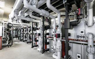 Een energiecentrale van Mijnwater Energy B.V. in het centrumgebied van Heerlen.
