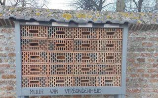 De coronamuur in Cothen. beeld Beraad van Kerken Wijk bij Duurstede