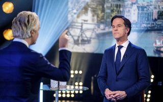 Wilders en Rutte, beeld ANP, Bart Maat