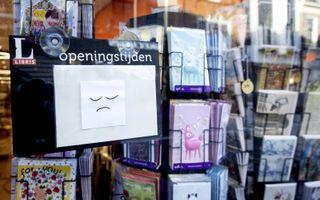 Een gesloten boekhandel in Alkmaar tijdens de tweede lockdown. beeld ANP, Koen van Weel