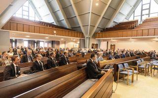 Het Bijbels Beraad M/V hield donderdag in Alblasserdam een studiedag over transgenderisme.beeld RD, Henk Visscher
