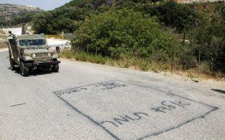 Hier werden Israëlische soldaten ontvoerd.beeld Alfred Muller