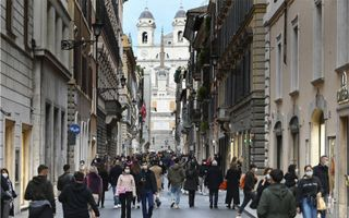 Straatbeeld in Rome.beeld AFP, Alberto Pizzoli