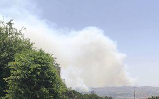 Natuurbrand in de heuvels rond Jeruzalem.beeld Alfred Muller