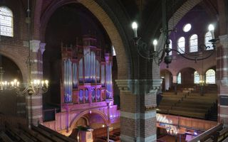 De remonstrantse Arminiuskerk in Rotterdam. Een dankdienst in dit gebouw voor 400 jaar remonstranten werd op 3 maart bijgewoond door zo'n 800 mensen.beeld Sjaak Verboom