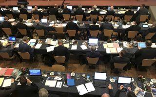 Generale synode van de CGK, afgelopen voorjaar in Nunspeet.beeld RD