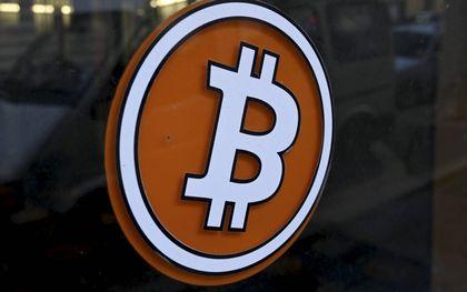Logo van de cryptomunt bitcoin.beeld AFP, Nicolas Tucat