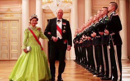 In 2017 werd de tachtigste verjaardag van koning Harald groots gevierd, onder andere met een galadiner.beeld EPA, Haakon Mosvold Larsen