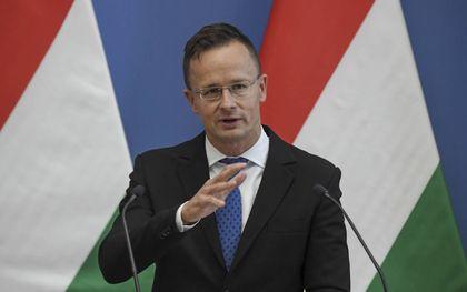 Szijártó probeert de kritiek op Hongarije te weerspreken. beeld AFP, Attila Kisbenedek