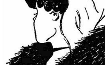 """""""Mijn vrouw en mijn schoonmoeder"""" van de cartoontekenaar W. E. Hill uit 1915. beeld W. E. Hil"""