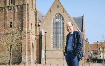 Stadsorganist Gerben Mourik in Oudewater.beeld Sjaak Verboom
