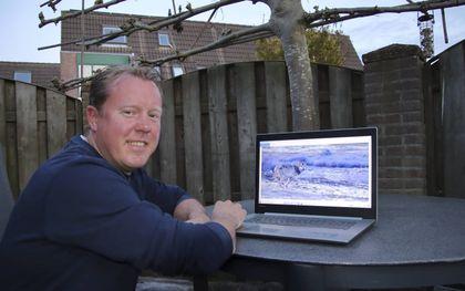 Natuurfotograaf Gerbrand Mulder kreeg onlangs een wolf voor zijn lens.beeld RD