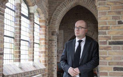 Ds. A. A. F. van de Weg, predikant van de hersteld hervormde gemeente in Apeldoorn.beeld RD, Anton Dommerholt