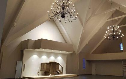 De hersteld hervormde gemeente van Waarder-Driebruggen neemt een nieuw kerkgebouw in gebruik.beeld Hhg Waarder-Driebruggen