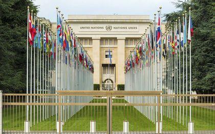 """De VN Onafhankelijke Expert presenteert op 24 juni in de VN Mensenrechtenraad in Genève zijn """"Verslag inzake bescherming tegen geweld en discriminatie op grond van seksuele oriëntatie en genderidentiteit"""". Foto: VN-hoofdkwartier in Genève. beeld iStock"""