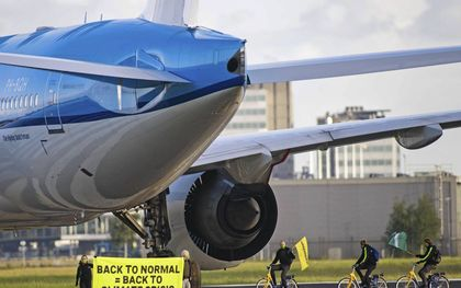 Maatschappelijke druk om minder te vliegen.beeld Marten van Dijl