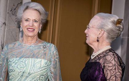 In 2019 werd prinses Benedikte 75 jaar en bood Margrethe haar een diner aan op Paleis Amalienborg in Kopenhagen.beeld AFP, Mads Claus Rasmussen