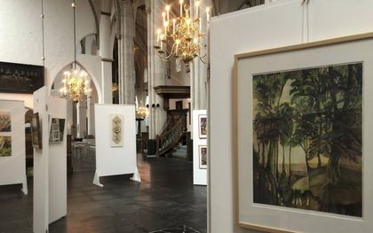 Overzicht van de tentoonstelling Ode aan de natuur van kunstenaarsvereniging Korf. beeld RD