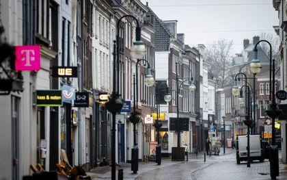 Lege winkelstraten tijdens de lockdown betekenden ook minder winkeldiefstallen.beeld ANP, Sem van der Wal