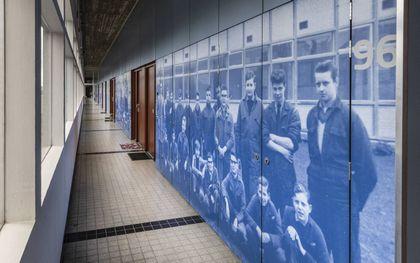 Waar vroeger leerlingen technische vaardigheden opdeden, zijn nu appartementen gebouwd. beeld RD, Henk Visscher