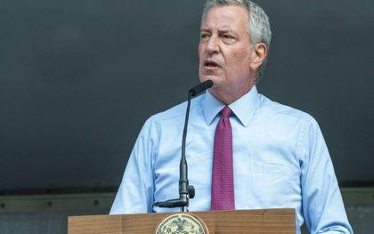 Burgemeester Bill de Blasio van New York. beeld AFP, David Dee Delgado