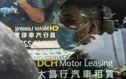 De 24-jarige Tong Ying-kit is de eerste persoon die is veroordeeld onder de omstreden veiligheidswet in Hongkong. Hij kreeg vorige week negen jaar cel.beeld AFP, Isaac Lawrence