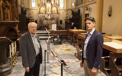 Pastoor Harmen Jansen en ds. Harrie de Reus. beeld RD, Anton Dommerholt