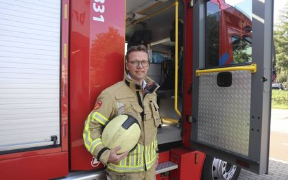 Ds. L. M. Balde is de eerste geestelijk verzorger bij de veiligheidsregio Utrecht ten dienste van de brandweer. beeld Bastiaan van Soest