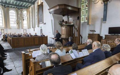 Stichting Studie Nadere Reformatie (SSNR) hield zaterdag in de Grote Kerk te Linschoten een congres over de vraag hoe piëtisten omgingen met kerkgang en pastoraat in crisistijd.beeld Erik Kottier